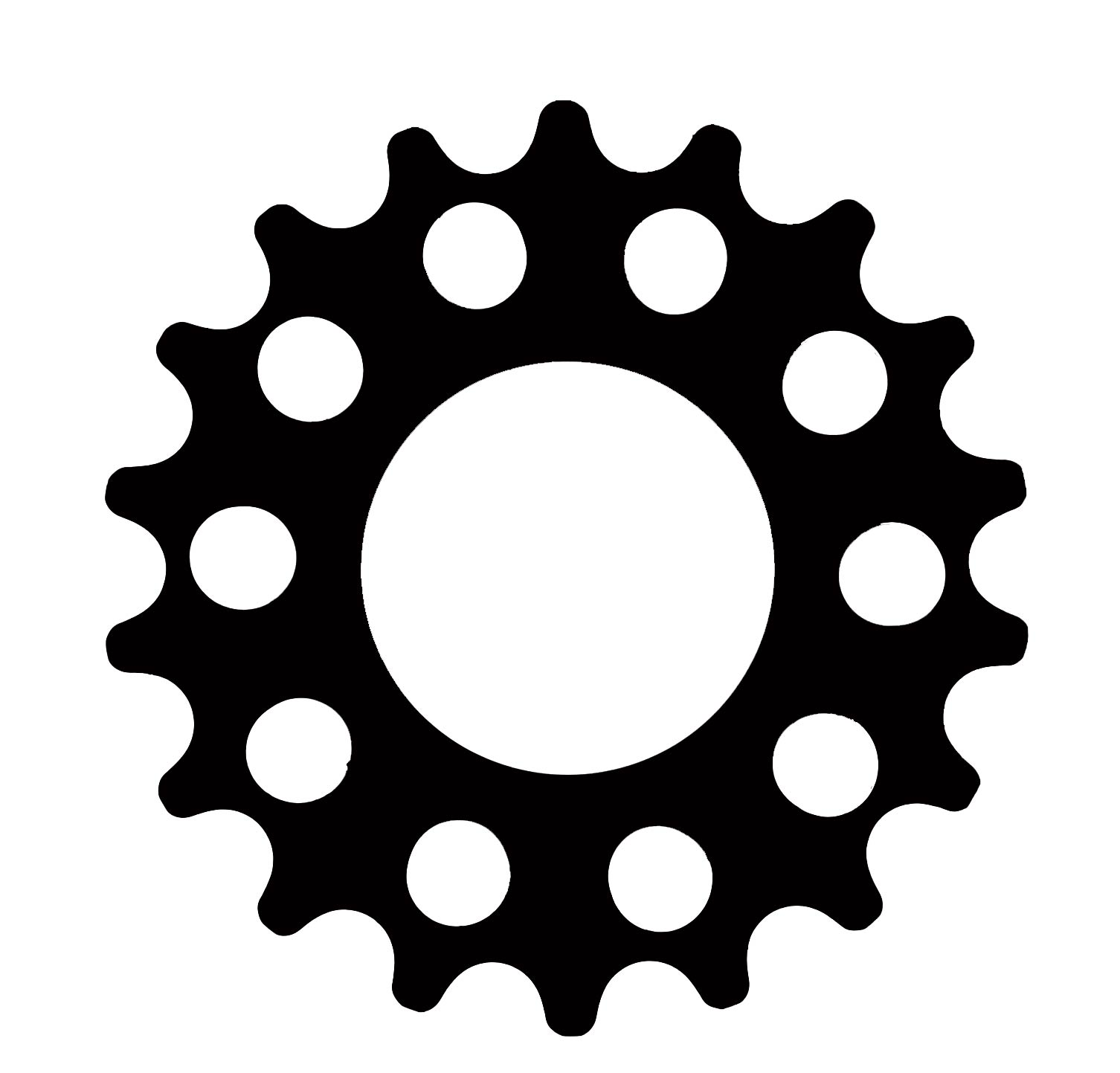 Black Sprocket On White Background Clipart - Free Clip Art Images